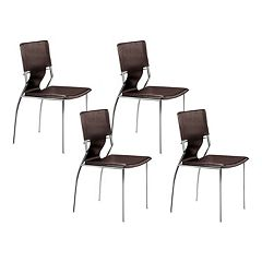 Zuo Modern 4 pc Trafico Dining Chair Set