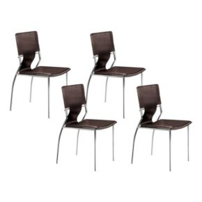 Zuo Modern 4-piece Trafico Dining Chair Set