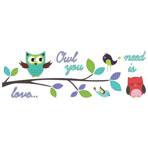 """WallPops """"Owl You Need is Love"""" Wall Decals"""