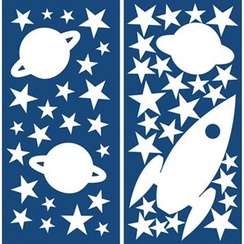 WallPops Rocket & Stars Glow-in-the-Dark Wall Decals