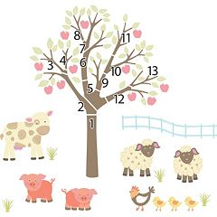 WallPops Little Farm Wall Decals