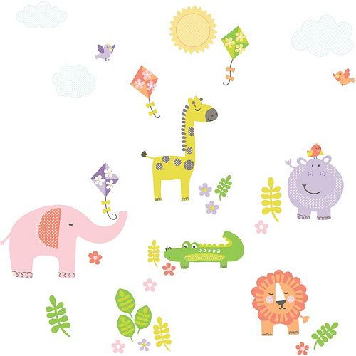 WallPops Sunny Day Safari Wall Decals
