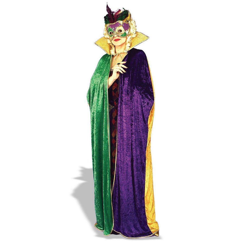 Mardi Gras Costume Cape - Adult