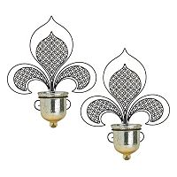 Bombay™ 2 pc Fleur-De-Lis Wall Sconce Set