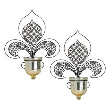 Bombay™ 2-piece Fleur-De-Lis Wall Sconce Set