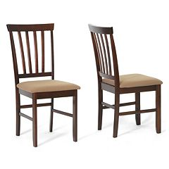 Baxton Studio 2 pc Tiffany Dining Chair Set