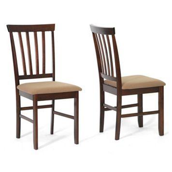 Baxton Studio 2-piece Tiffany Dining Chair Set
