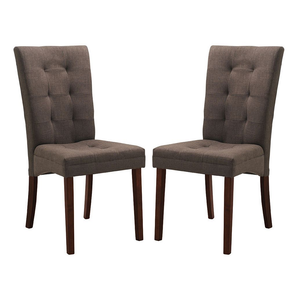 Baxton Studio 2-piece Anne Brown Dining Chair Set