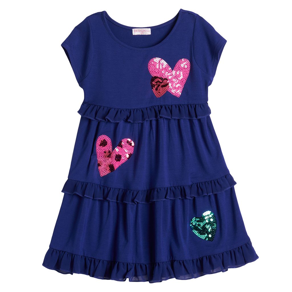 Design 365 Tiered Heart Dress - Toddler