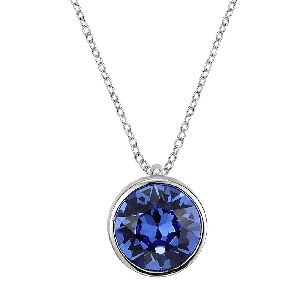 Sterling Silver Crystal Solitaire Pendant Necklace
