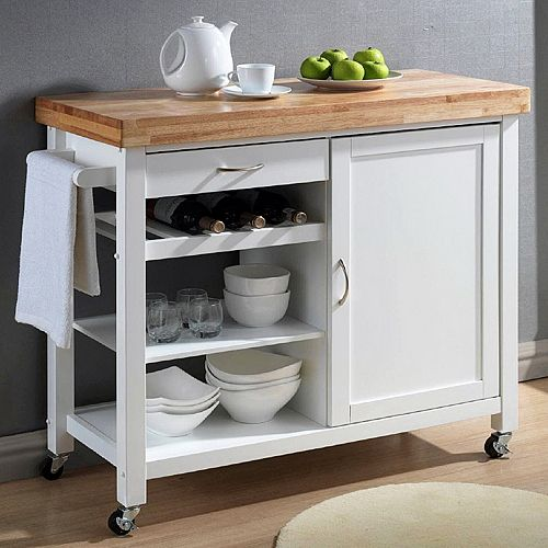 Baxton Studio Denver Kitchen Cart