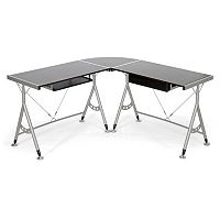 Baxton Studio Elburn L-Shaped Modern Computer Desk