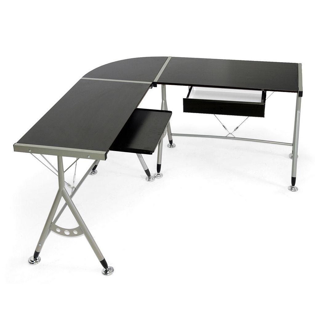 Baxton Studio Elburn L-Shaped Modern Computer Desk