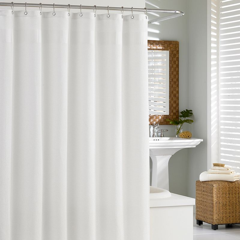 Cotton Fabric Shower Curtain