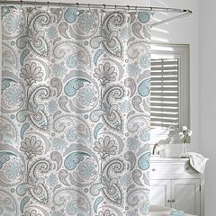 Kassatex Paisley Fabric Shower Curtain