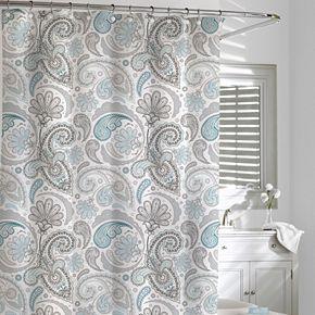 Kassatex Paisley Fabric Shower Curtain