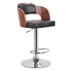 Baxton Studio Sitka Adjustable Bar Stool