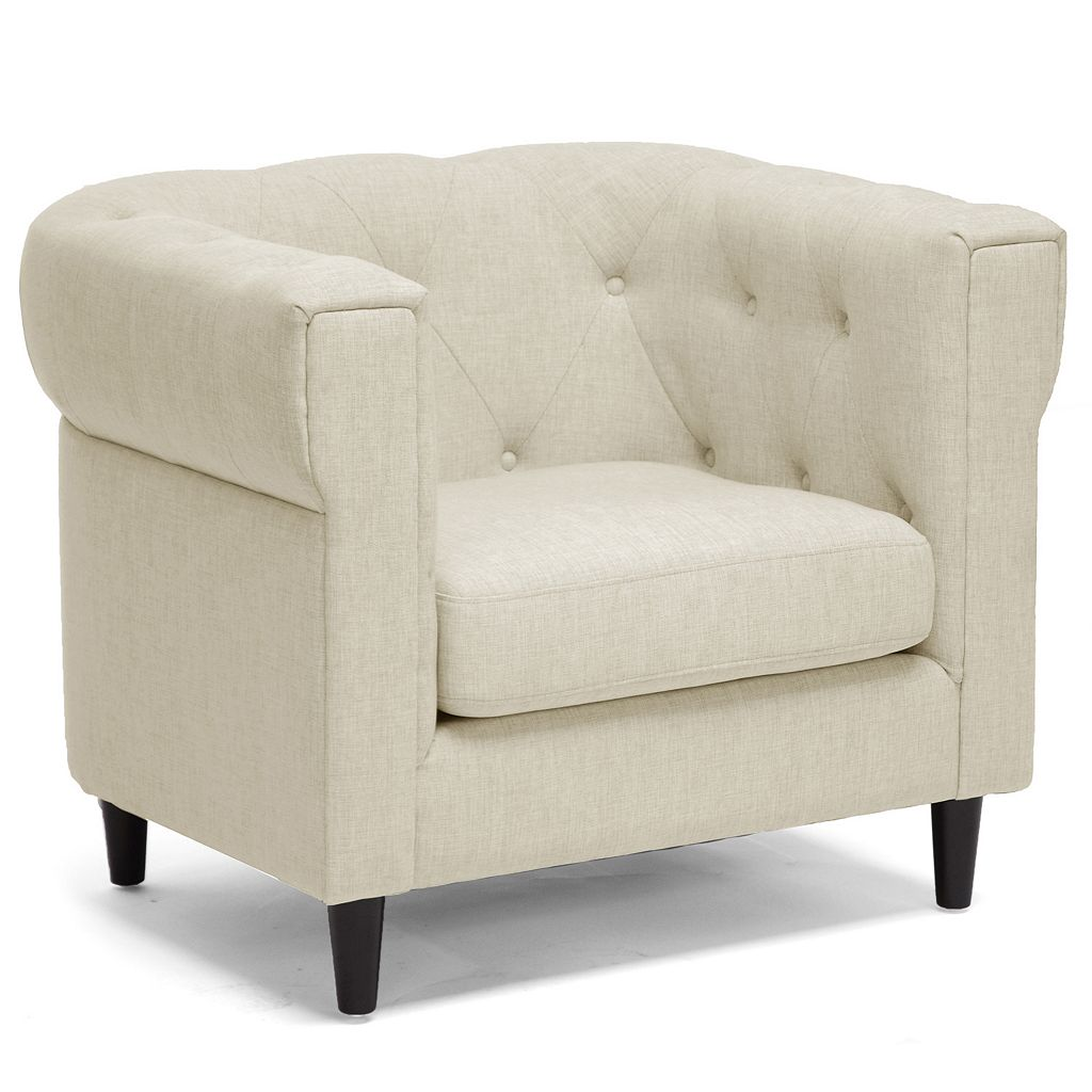 Baxton Studio Cortland Chesterfield Arm Chair