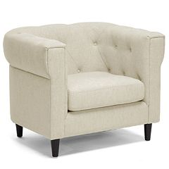 Baxton Studio Cortland Chesterfield Arm Chair