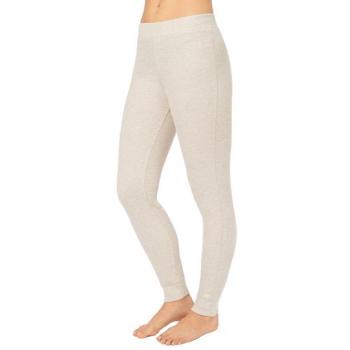 37bead9db540 Cuddl Duds Waffle-Knit Thermal Leggings - Women's