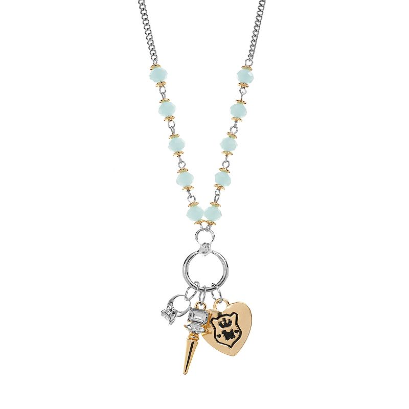 Juicy Couture Bead, & Heart, Spike & Ring Charm Necklace