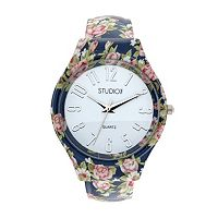 Studio Time Women's Flower Bangle Watch