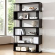 Baxton Studio Barnes 6-Shelf Bookcase