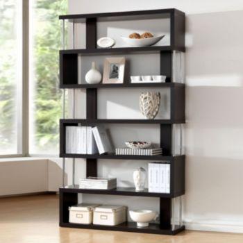 Baxton Studio Barnes 6-Shelf Bookcase