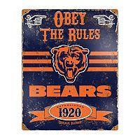 Chicago Bears Embossed Metal Sign