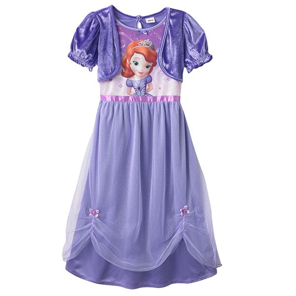 Disney Sofia The First Dress Up Nightgown Girl