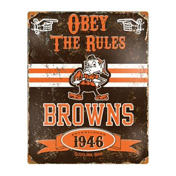 Cleveland Browns Embossed Metal Sign