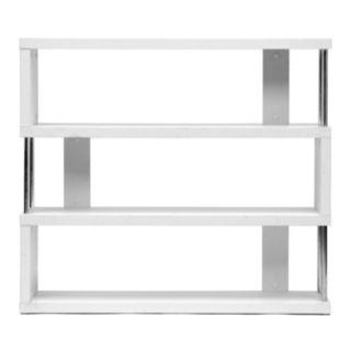 Baxton Studio Barnes 3-Shelf Modern Bookcase