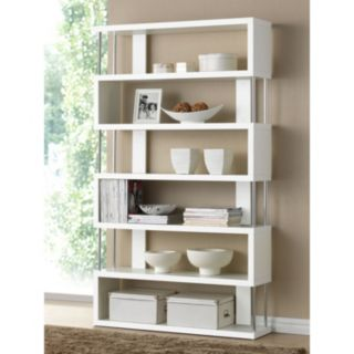 Baxton Studio Barnes 6-Shelf Modern Bookcase