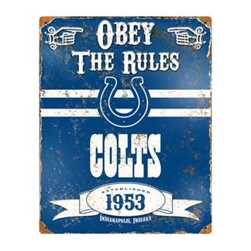 Indianapolis Colts Embossed Metal Sign