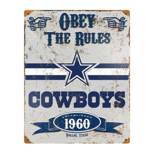Dallas Cowboys Embossed Metal Sign