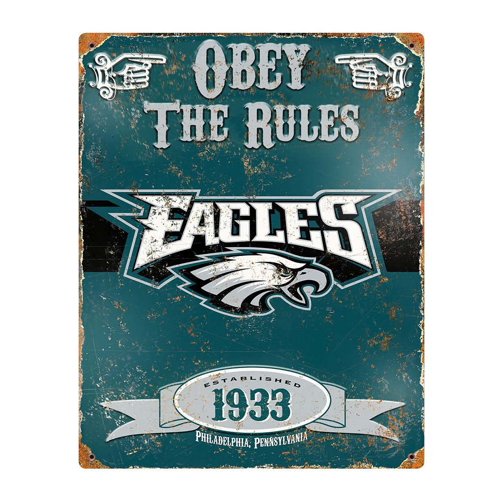 Philadelphia Eagles Embossed Metal Sign