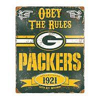 Green Bay Packers Embossed Metal Sign