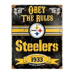 Pittsburgh Steelers Embossed Metal Sign