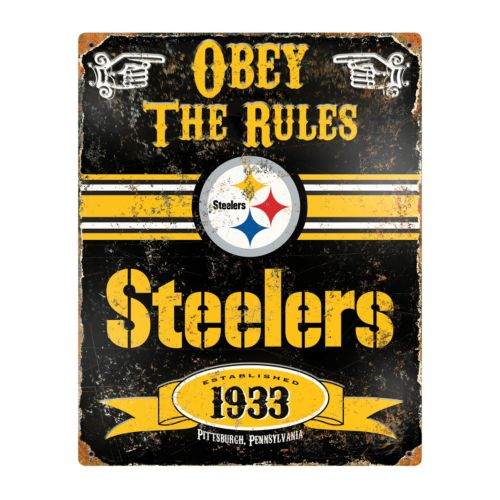 Pittsburgh Steelers Embossed Metal Sign