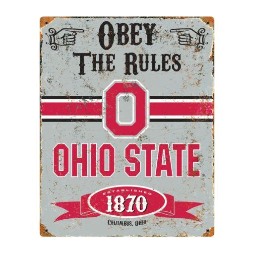 Ohio State Buckeyes Embossed Metal Sign