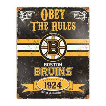 Boston Bruins Embossed Metal Sign