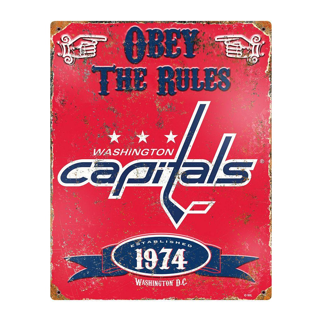 Washington Capitals Embossed Metal Sign