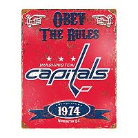 Washington Capitals Embossed Metal Sign
