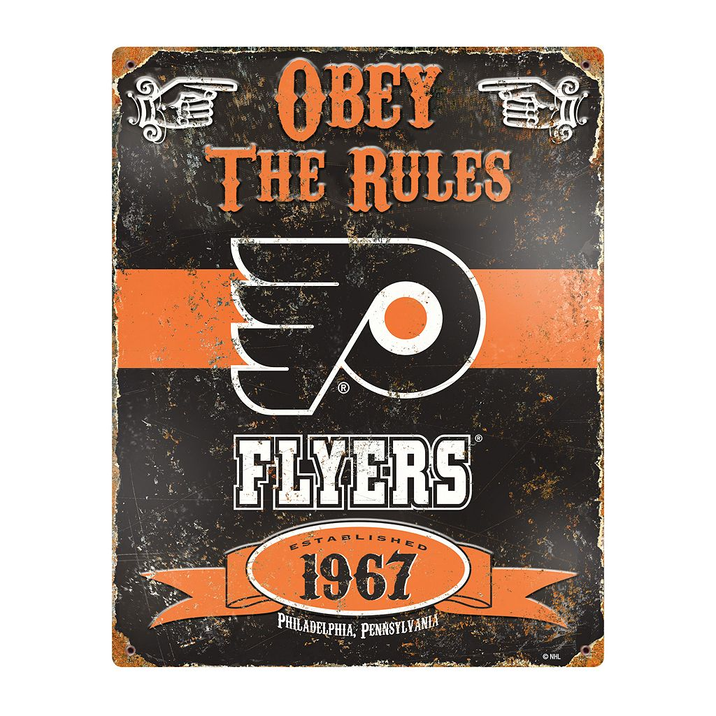 Philadelphia Flyers Embossed Metal Sign