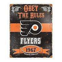 Philadelphia Flyers Embossed Metal Sign