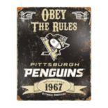 Pittsburgh Penguins Embossed Metal Sign