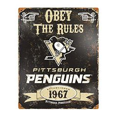 Pittsburgh Penguins Embossed Metal Sign