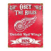 Detroit Red Wings Embossed Metal Sign