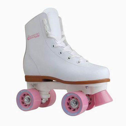 Chicago Skates Rink White Roller Skates - Girls
