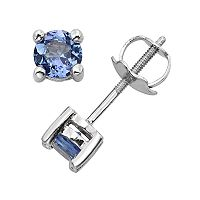 The Regal Collection Tanzanite 14k White Gold Stud Earrings
